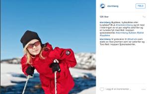 Eksempel på selgende Instagram-post fra Stormberg