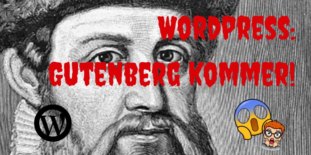 Endringer i WordPress – Gutenberg kommer