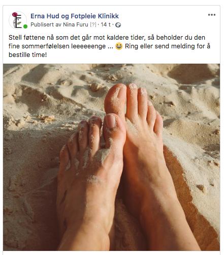 eksempel på Facebook-annonse