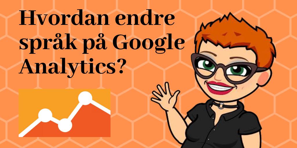 Hvordan endre språk på Google Analytics
