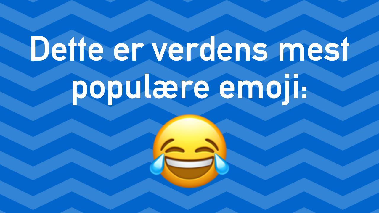 Hvilke emojis er mest populære?